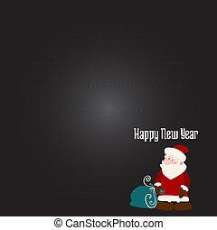 Christmas wish with Santa Claus
