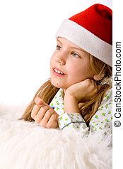 Christmas wishes - Happy blond girl and her christmas...