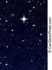 christmas wishing star - bright star to make a wish at...