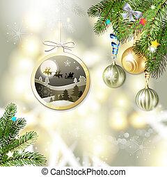 Christmas with balls