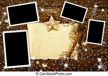Christmas with four frames to put photos and write letter in...