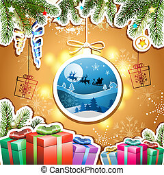 Christmas with gifts