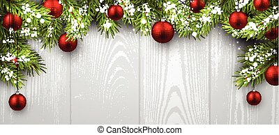 Christmas wooden background. - Christmas wooden background...