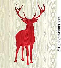 Christmas wooden reindeer silhouette - Christmas wood ...