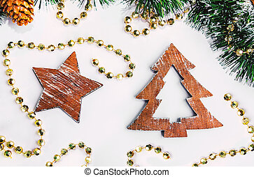 Christmas wooden shapes
