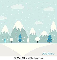 Christmas woodland background