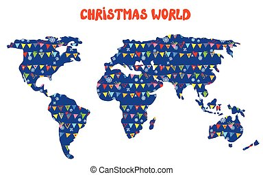 Snow globe with map a vector illustration of a transparent christmas world map with decorations and snow illustration gumiabroncs