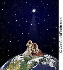 Christmas world - Nativity scene with Jesus, Maria and ...