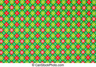 Christmas wrapping paper on red and green pattern for use as...