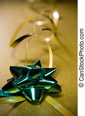 Christmas wrapping ribbon design element