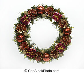 Christmas wreath - A traditional christmas wreath