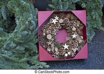 Christmas wreath as a home decoration for Christmas