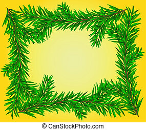 Christmas wreath background