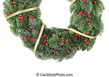 Christmas wreath border