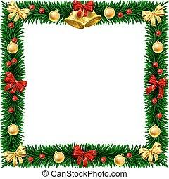 Christmas Wreath Border Frame