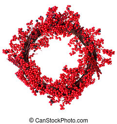 Christmas wreath. - Christmas decorative wreath garland...