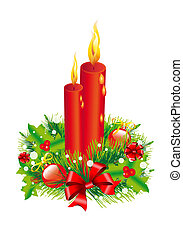 Christmas Wreath, Christmas tree, Christmas, New Year background