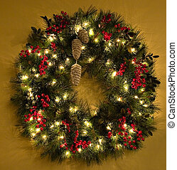 Christmas Wreath - Christmas wreath with lights