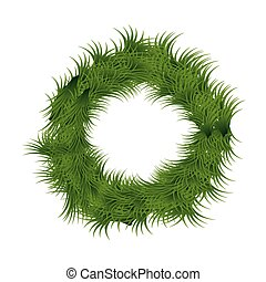 christmas wreath decoration icon