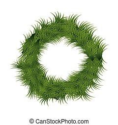 christmas wreath decoration icon