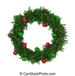 Christmas Wreath Decoration Isolated