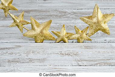 Christmas wreath, decoration of stars