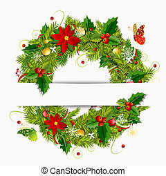 Christmas wreath for your design