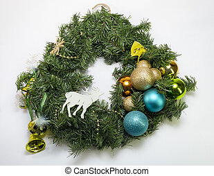 Christmas wreath from a tree