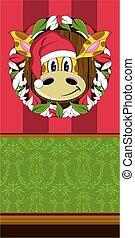 Christmas Wreath Giraffe