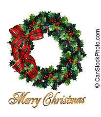Christmas wreath holly