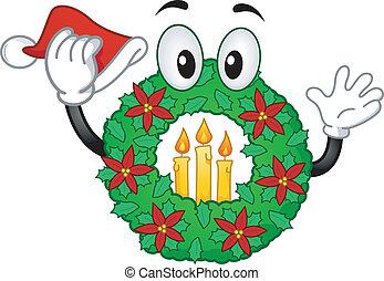 Christmas Wreath Mascot