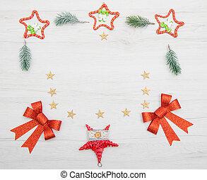 Christmas wreath on white background