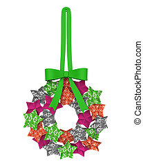 Christmas Wreath Star Decoration