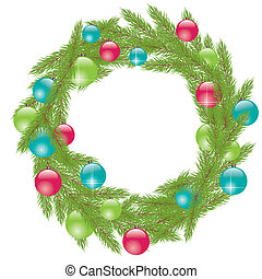 Christmas Wreath. Vector illustration