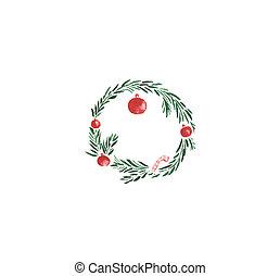 Christmas wreath with balls