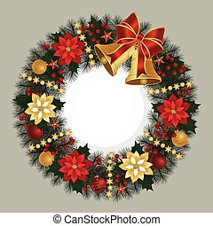 Christmas wreath with bells