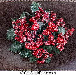 Christmas wreath with berries