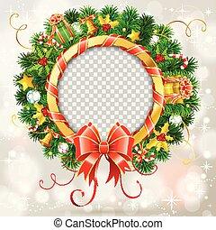 Christmas Wreath with Bow