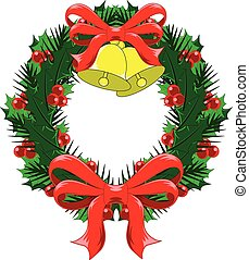 Christmas Wreath with bows and bells