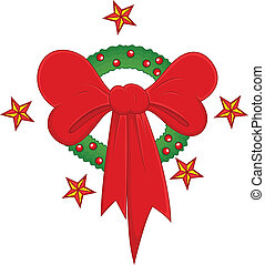 Christmas Wreath with Gift Bow