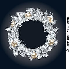Christmas Wreath with Golden Balls