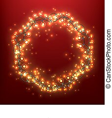 Christmas Wreath With Light Bulb Garlands
