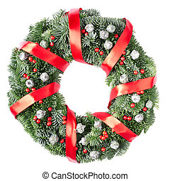 Christmas wreath with pine cone