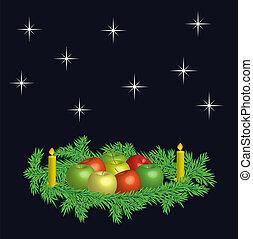 Christmas wreaths - vector - Christmas wreaths with fresh ...