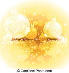 Christmas yellow design with balls