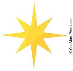 Christmas yellow star