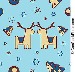 christmas(1).jpg - seamless christmas pattern with reindeer,...