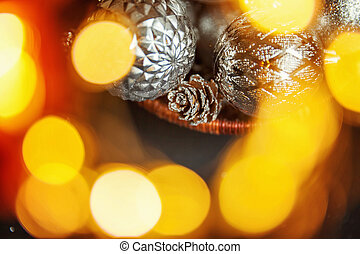 Christmass abstract background in golden tones