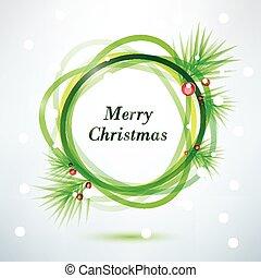 christmass background, vector frame