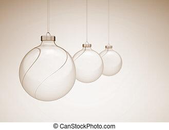 Christmass balls image with slight dof - Christmass balls in...